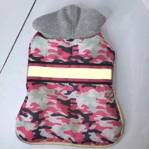 Top Paw Pink Reflective Camo Hoodie Coat size M